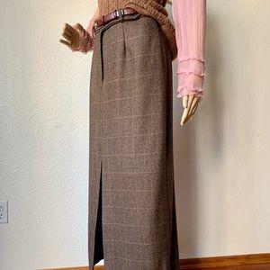 Harold Alpaca Wool Midi Pencil lined vintage skirt